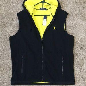 NWT men's POLO soft fleece vest